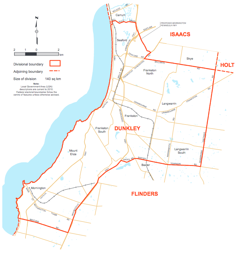 Dunkley Electorate Map