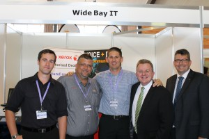 Minister Billson and Keith Pitt with Wide Bay IT employees